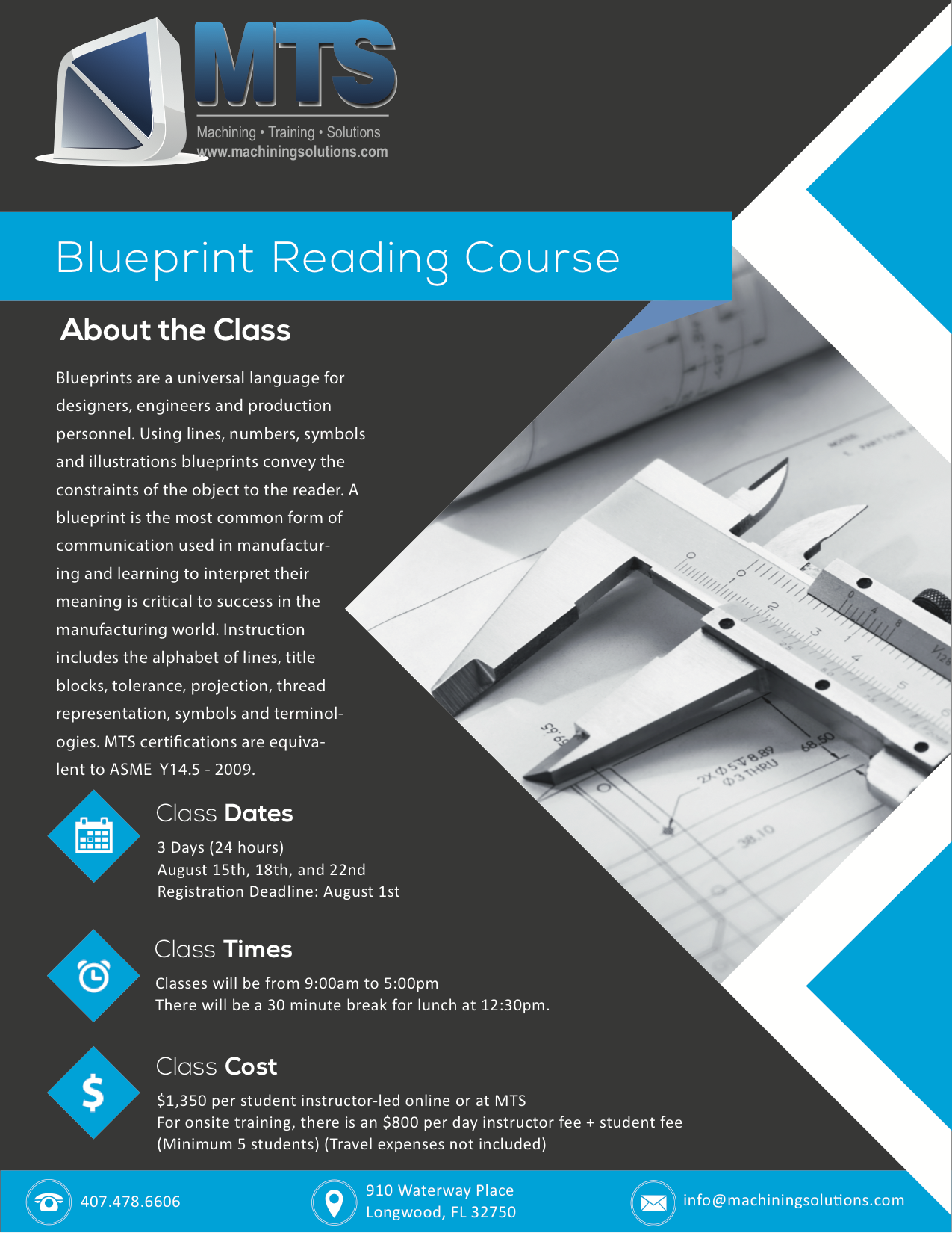Machining training solutions How do you read blueprints