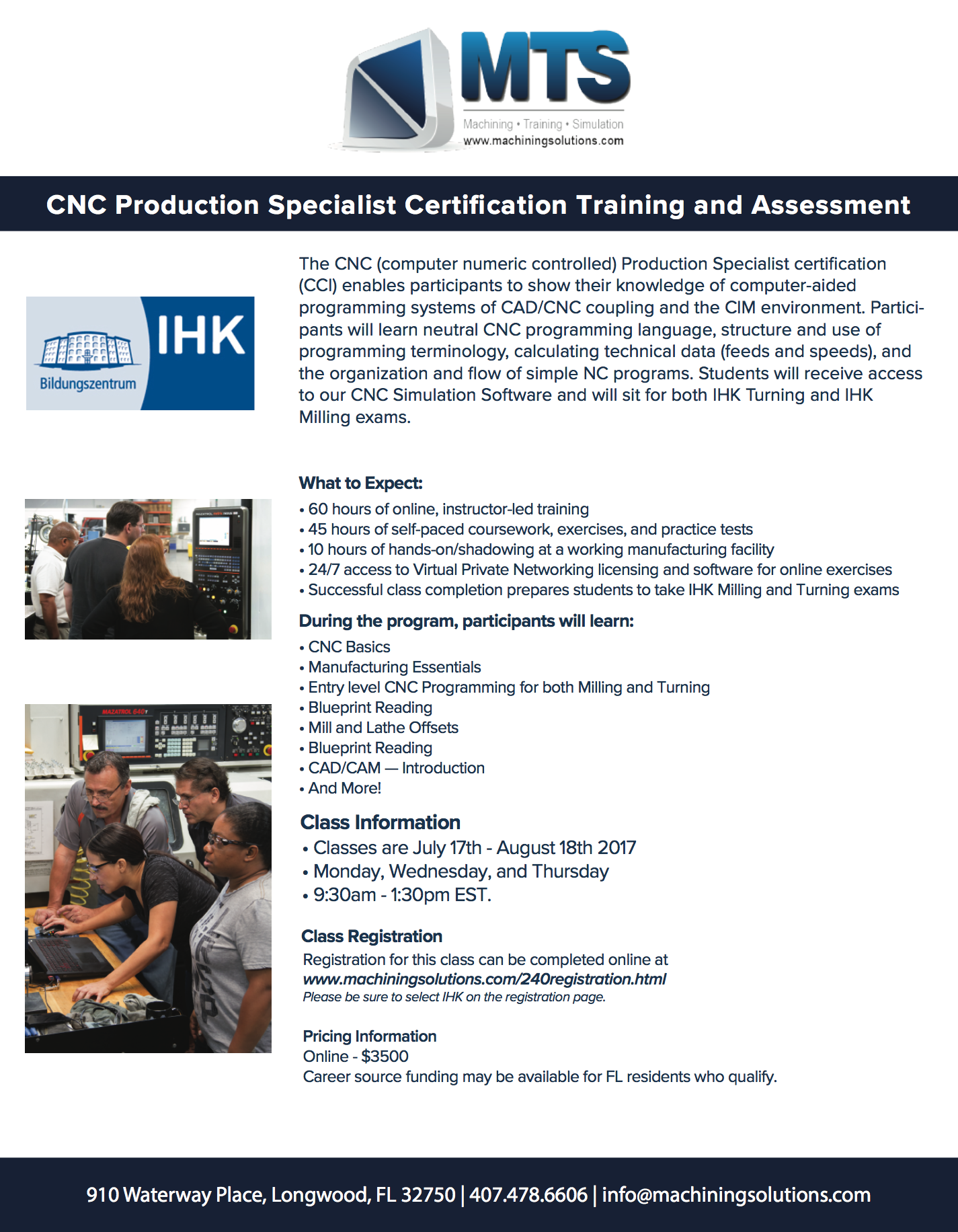 Machining training solutions ihk flyer xflitez Images